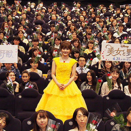 4/21(金)『美女と野獣』舞台挨拶にプレミアム吹替版でベル役を演じた昆夏美が登場し、あの名曲を披露!